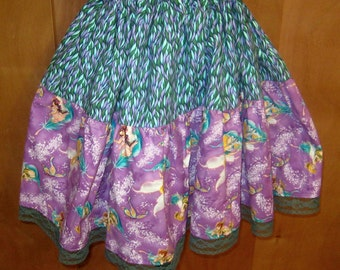 Tink and Friends Purple n Teal Lolita  Skirt by Erikas Chiquis