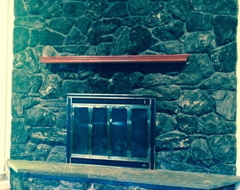 Custom Crafted Layered Floating Fireplace Mantle