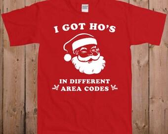 Santa T Shirt Offensive Christmas shirt funny Santa Claus Tshirt Gift for him gift for guys great stocking stuffer T-Shirt Tee shirt TM-32