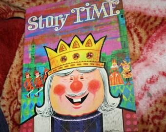 vintage 1975 Waldman coloring book unused Story Time