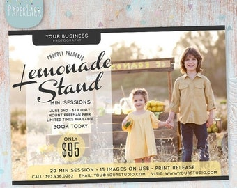 ON SALE Lemonade Photography Marketing Board - Mini Sessions - IA003 - Instant Download