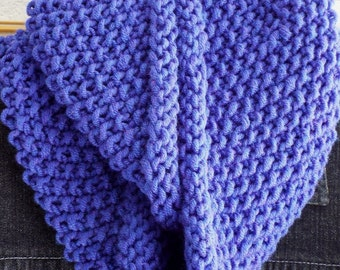 Hand knit Infinity Scarf in Violet by avintageobsession on etsy...free USA shipping