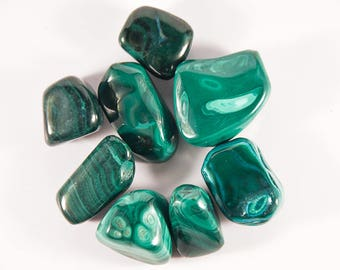 High quality tumbled Malachite.  All pieces hand picked!