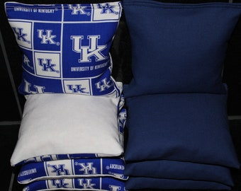 UK WILDCATS Cornhole Bags University of Kentucky 8 ACA Regulation Corn Hole Bean Bags