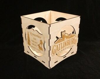 Gatlinburg Candle Lantern-The Great Smoky Mountains Candle Lantern- Dollywood Foundations Fund- My People Fund