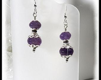 February amethyst earrings, Amethyst earrings, 2415, Purple earrings, Amethyst jewelry, gifts for her, Mother's day, gemstone jewelry