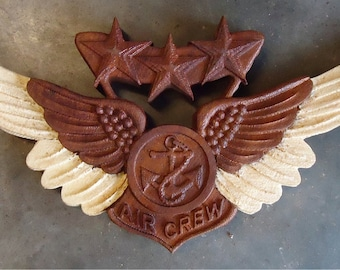 Two Toned Military Wings Small