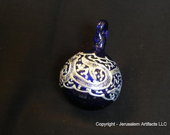 SALE! 80%OFF - Handmade Glass Christmas Ornament from the Holy Land
