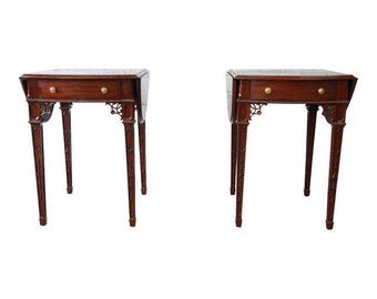 Maitland smith etsy pair of mahogany end tables by maitland smith gumiabroncs Choice Image