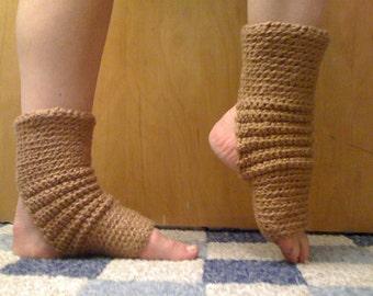 Yoga Socks in ORGANIC Pecan Brown Cotton CLOSEOUT SALE