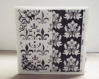 Black and White Wedding Paper Bag Album