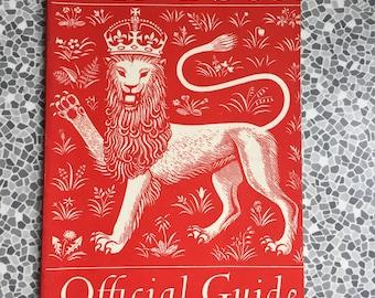 Vintage 1956 Windsor Official Guide book