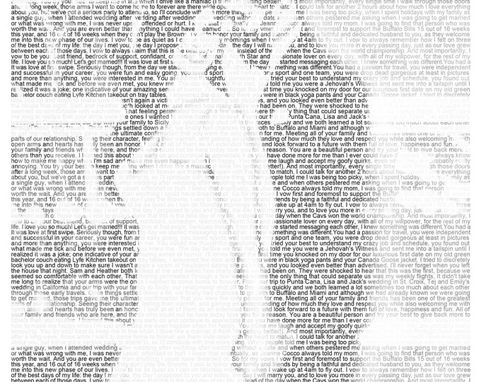 1st Anniversary Wedding Vow Art First Dance Lyrics First Dance Song Wedding Vow Print Wedding Song Lyrics on Textured Paper 8.5x11