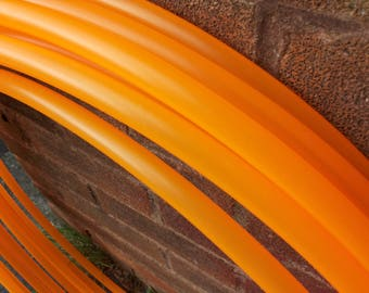 "5/8"" UV Orange Polypro Hula Hoop"