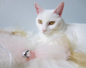 Tulle Cat Toys| Toys for Cats, Bell Cat Toys, Ribbon Cat Toys, Pet Toys, Cat Supplies