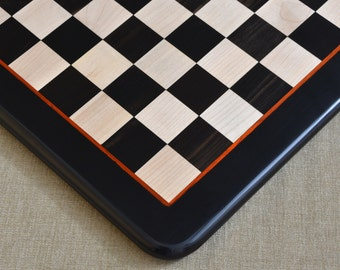 Wooden chess board in Ebony/Box Wood from India. SKU: D0114