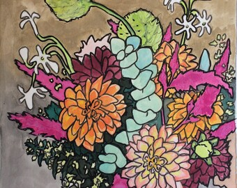 Original watercolor painting 7/100
