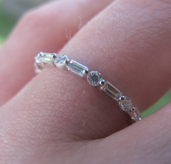 eternity diamond rings baguette and platinum gemstones anniversary htm colored unique band women diamonds designer premier ring bands set on