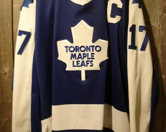 Vintage CCM Wendel Clark Captains Jersey with sewn on cresting Size XL