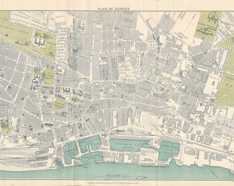 1903 Dundee Scotland Antique map