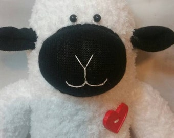 Cotton the sheep, handmade, sock sheep, sock animal, plush