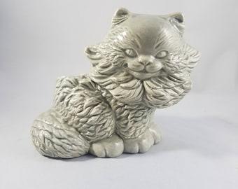 Grinning Cat Planter  |  Vintage Ceramic Planter  |  Cheshire Cat  |  Kitten Planter  |  Indoor Planter |  Ceramic Cat  | Cute Planter