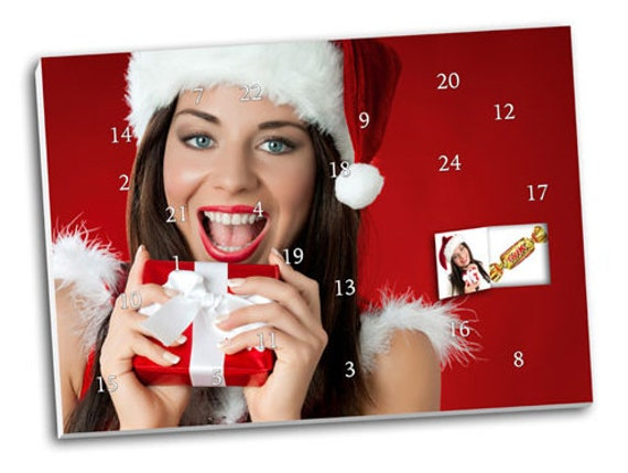 Photo-Advent calendar with your photos & chocolate