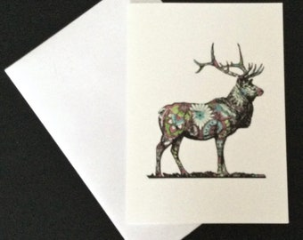 A5 Paisley Stag