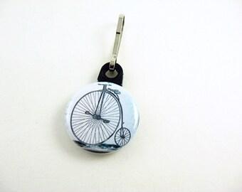 Bike, Bicycle, Blue, Zipper Pull, Zipper Charm, Bike Bag