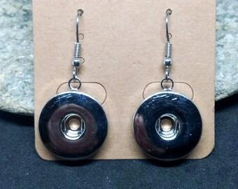 1 pair of earrings to snap snap stainless steel