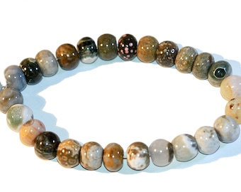 Jasper Beads Jasper Rondelle Beads 9x14mm Smooth Polished Rondelle Beads Strand of 18 Beads