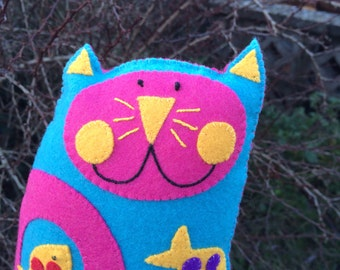 Fishy Kooky Kat Plush/Mini Pillow