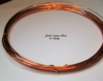 SOLID COPPER WIRE 20 Gauge, 20 Feet, Ready to Ship!