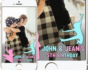 Birthday Snapchat Filter, two names birthday snapchat filter, snapchat for twins, twining, twins snapchat geofilter, two names snapchat