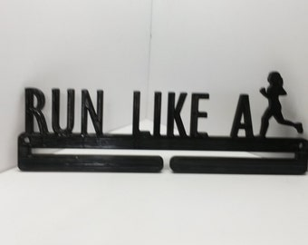 Run Like A Girl Running Marathon Sports Medal Display Medal Rack Medal Holder Running Medal Hanger
