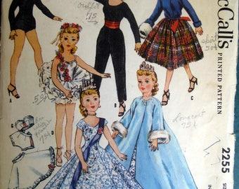 "Vintage McCall's Doll Pattern 10 1/2"" Revlon High Heel Fiqure Wardrobe 1958"
