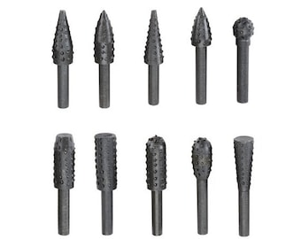 Rotary Tools Accessories fits dremel & other brands Rasp File Set Grinds And Shapes Brass Copper Metal Wood Plastic Aluminum shape carve