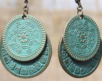 Turquoise Earrings Boho Earrings Bohemian Earrings Gypsy Earrings Dangle Drop Earrings Boho Jewelry Bohemian Jewelry Ethnic Hippie Gift