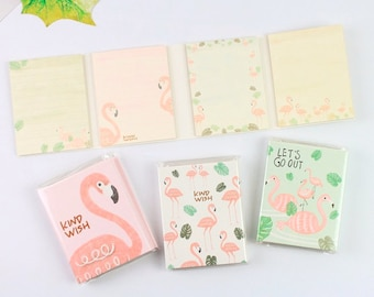 4 Fold Flamingo Sticky Note—Sticky Notes, Stick Note, Notepad, Flamingo Memo Pad,Sticky Memo