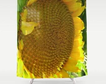 Sunflower Shower Curtain - Botanical Shower Curtain
