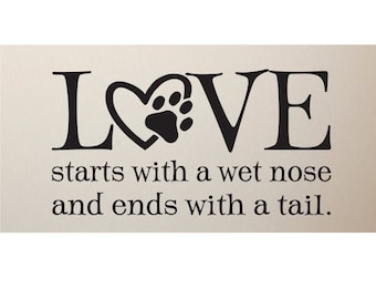 Love starts with a wet nose