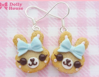 Biscuit Bunnies Earrings by Dolly House