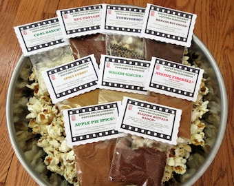 Popcorn Seasoning, Popcorn Mix, Popcorn Flavor, Gourmet Popcorn, Popcorn, Spicy Popcorn, Gifts for Him, Mothers Day, Fathers Day, Salt Free