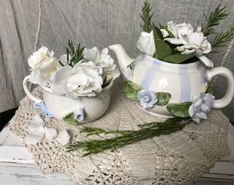 Beautiful Repurposed Betlar Inc. Teapot &Cup