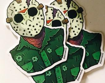 Friday the 13th Jason Vinyl Sticker