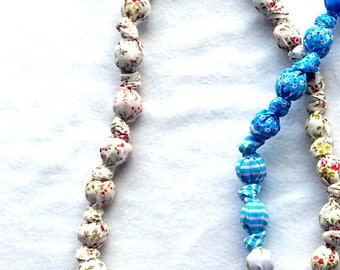 Necklace in fabric, Colorful creation