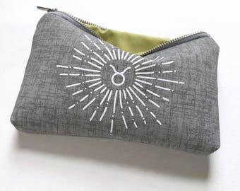 Custom Zodiac Bag. Personalized Zodiac. Zodiac Gift. Taurus Zodiac. Zodiac Necklace Bag. Zodiac Jewelry Bag. Astrology Gift. Taurus Gift