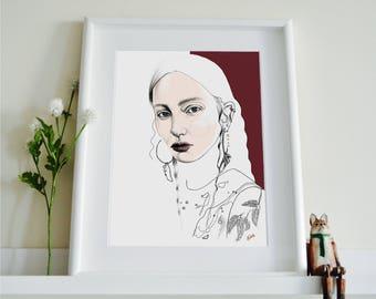 Alexander McQueen AW17 Fashion Illustration