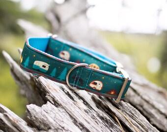ECO CANVAS Camping Dog Collar, Hiking, Outdoor, Adventure, Male Collar, Female Collar, Waterproof Collar, Buckle Collar