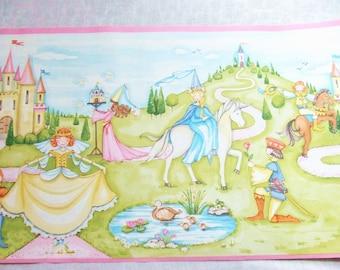 Princess Wallpaper Border by Waverly Princesses Castles Unicorns 3 Rolls 5 Yards Each